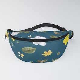 Yellow Flowers & White Roses Fanny Pack