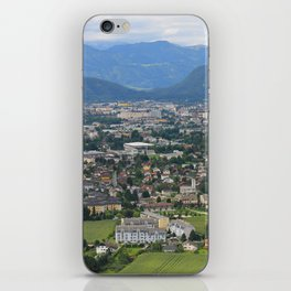 A beautiful colorful city in the mountains. iPhone Skin