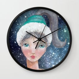 Girl of the Universe Wall Clock