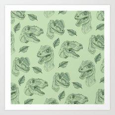 Dino Damage Art Print