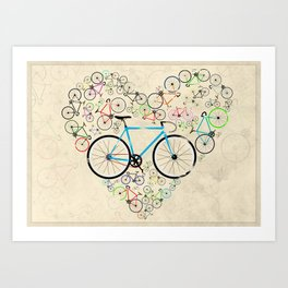 I Love My Bike Art Print