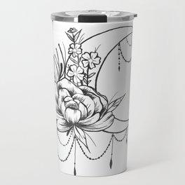 Feminine Moon - B&W Travel Mug