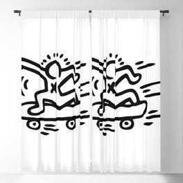 Skate Inspired to Keith Haring Blackout Curtain