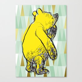 Thinking Pooh Canvas Print