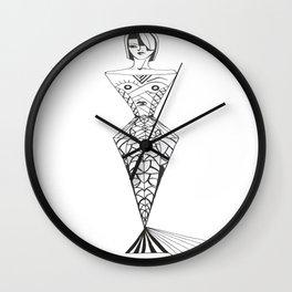mermaid lady Wall Clock