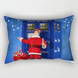 10th Doctor who Santa claus Rectangular Pillow