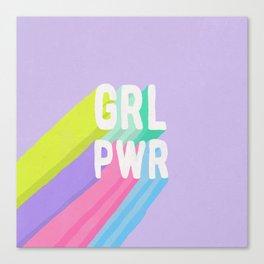 GRL PWR x Purple Canvas Print