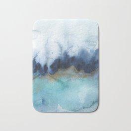 Mystic abstract watercolor Bath Mat