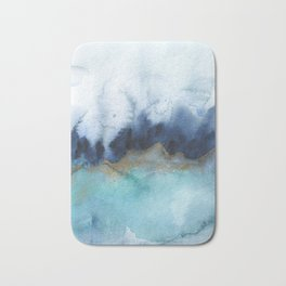 Mystic abstract watercolor Bath Mat