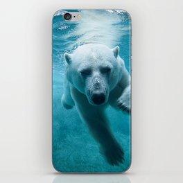 Polar Bear Swimming iPhone Skin