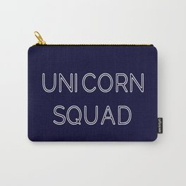 Unicorn Squad - Navy Blue and White Carry-All Pouch