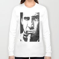 cage Long Sleeve T-shirts featuring Nicolas Cage by DeMoose_Art