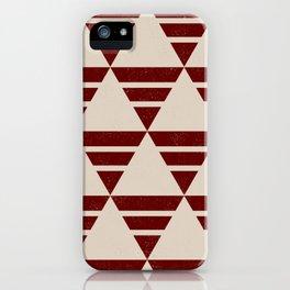 Maroon Pattern iPhone Case