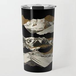 Golden Zugspitze / Black Travel Mug