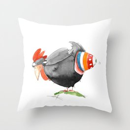 Hen and Egg Story Throw Pillow