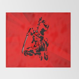 Dead Pool in Action Throw Blanket