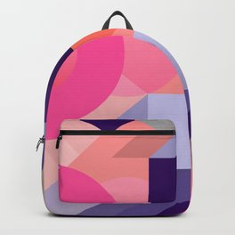 ultraviolet pink abstract geometry Backpack