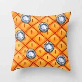 A pineapple under the sea Throw Pillow