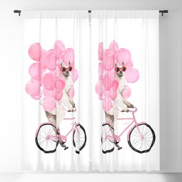 Riding Llama with Pink Balloons #1 Blackout Curtain