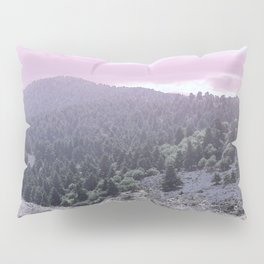Pink Sunset on Mountains Pillow Sham