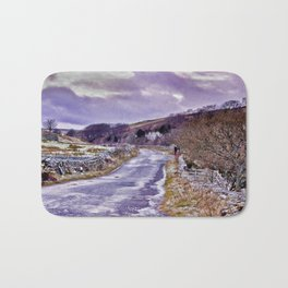 Yorks Dales Road in Winter Bath Mat