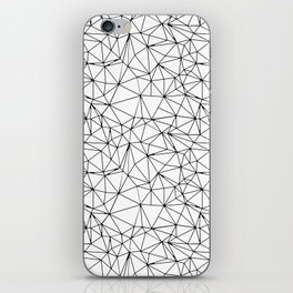 Mosaic Triangles Repeat Seamless Pattern Black and White iPhone Skin