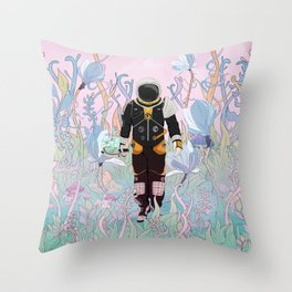 Collecting Samples Throw Pillow