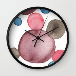 Color Sphere Circle Watercolor Wall Clock