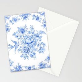 Blue asiatic pheasant Stationery Cards