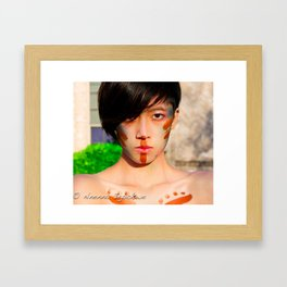 Tribal beauty Framed Art Print