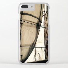 Under Construction Clear iPhone Case