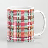plaid Mugs featuring Plaid by Xiao Twins