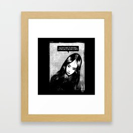 Like if you give a shit!!! Framed Art Print