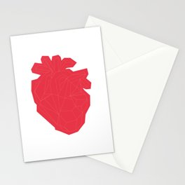 Geometric Heart Patch Stationery Cards