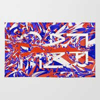 france Area & Throw Rugs featuring France by Danny Ivan