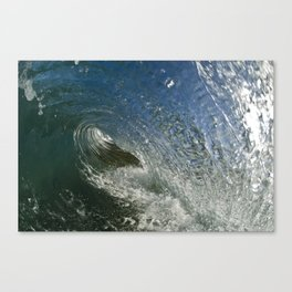 deep inside wave Canvas Print