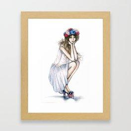 Fourth of July // Fashion Illustration Framed Art Print