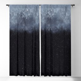 Blue veiled moon II Blackout Curtain