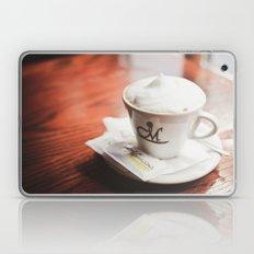 cappuccino on the table Laptop & iPad Skin