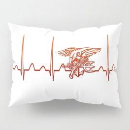 Navy Heartbeat Pillow Sham