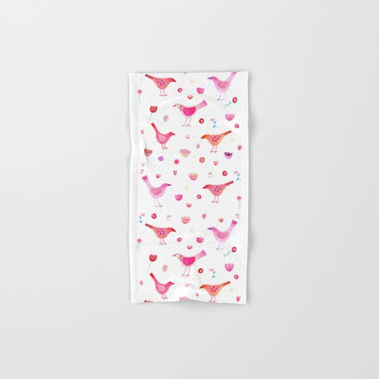 Birds and Blossoms Hand & Bath Towel