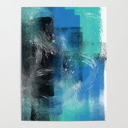 Abstract Blue Azur Poster