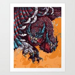 Great Tiger Owl Art Print