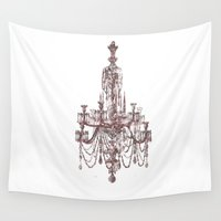 chandelier Wall Tapestries featuring Chandelier by Indraart