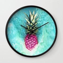 Pineapple Waves Wall Clock