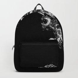 Grunge Distressed Biker Skull Backpack