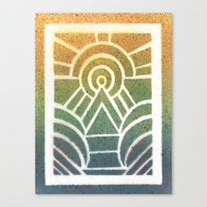 Drawing Meditation: Stencil 2 - Print 1 Canvas Print