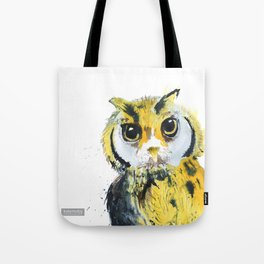 Inky Owl Tote Bag