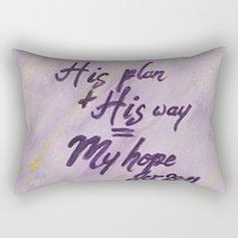 His Plan His Way My Hope Rectangular Pillow