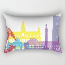 Brussels skyline pop Rectangular Pillow